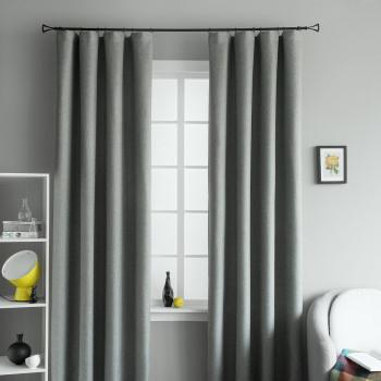 Комплект светонепроницаемых штор Мерлин Темно-серый, 210х270 см - 2 шт.