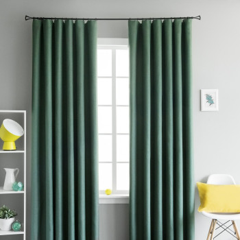 Комплект светонепроницаемых штор Мерлин Зеленый, 145х270 см - 2 шт.