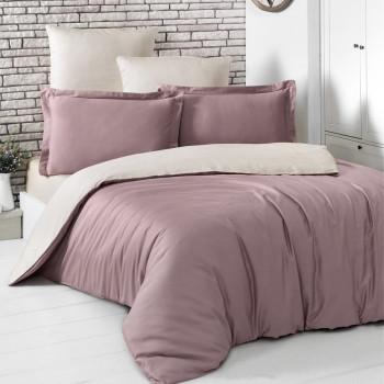 Постельное белье двухстороннее LOFT Грязно-розовый-Бежевый Eвро