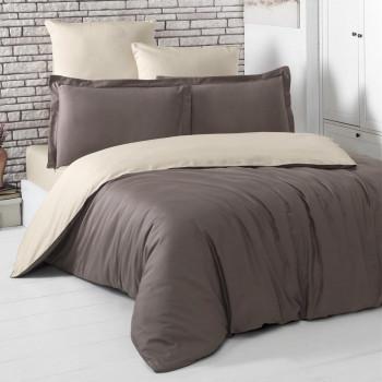Постельное белье двухстороннее LOFT Коричневый-Бежевый 1,5 спальный