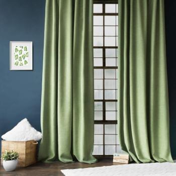 Комплект штор с подхватами Джерри Зеленый, 200х270 см - 2 шт.