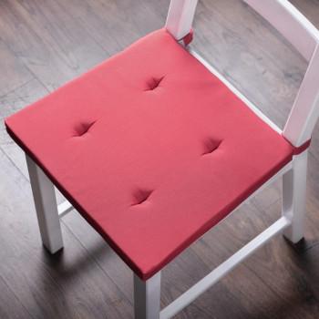 Комплект подушек для стула Билли Малиновый, 37х42х3 см - 2 шт.