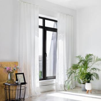 Комплект штор с вышивкой Дикси Белый 145x270 см - 2 шт.