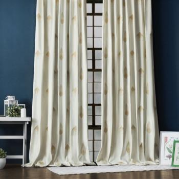 Комплект штор с вышивкой Элис Айвори, 145x270 см - 2 шт.