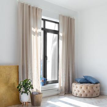 Комплект штор с вышивкой Дикси Серый 145x270 см - 2 шт.
