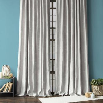 Комплект штор с вышивкой Джим Серый, 145x270 см - 2 шт.