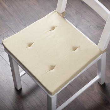 Комплект подушек для стула Билли Кремовый, 37х42х3 см - 2 шт.