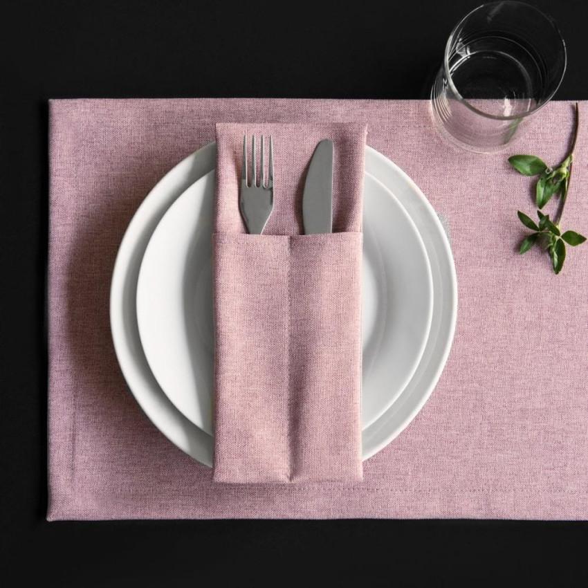 Комплект сетов Ибица Розовый, 28х43 см - 6 шт.