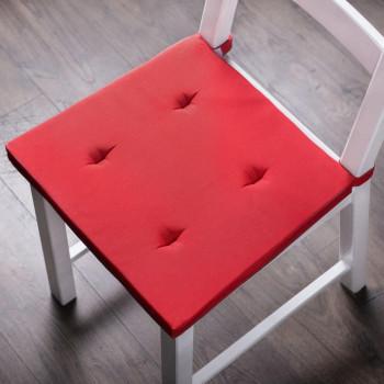 Комплект подушек для стула Билли Красный, 37х42х3 см - 2 шт.