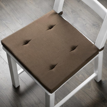 Комплект подушек для стула Билли Коричневый, 37х42х3 см - 2 шт.