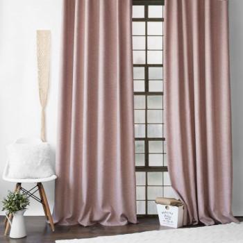 Комплект штор с подхватами Конни Розовый, 140х270 см - 2 шт.