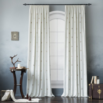 Комплект штор Лилас Белый, 145х270 см - 2 шт.