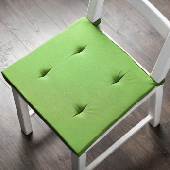 Комплект подушек для стула Билли Зеленый, 37х42х3 см - 2 шт.