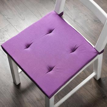 Комплект подушек для стула Билли Фиолетовый, 37х42х3 см - 2 шт.