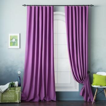 Комплект штор с подхватами Билли Фиолетовый, 170х270 см - 2 шт.