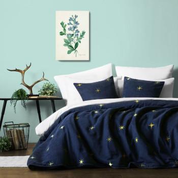 Покрывало с вышивкой Бэлли Синий 230x250 см