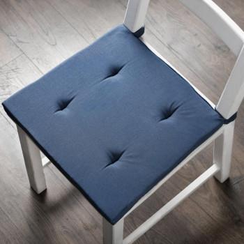 Комплект подушек для стула Билли Синий, 37х42х3 см - 2 шт.