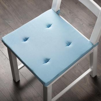 Комплект подушек для стула Билли Голубой, 37х42х3 см - 2 шт.