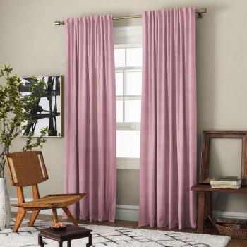 Комплект штор с подхватами Ибица Розовый, 140х270 см - 2 шт.