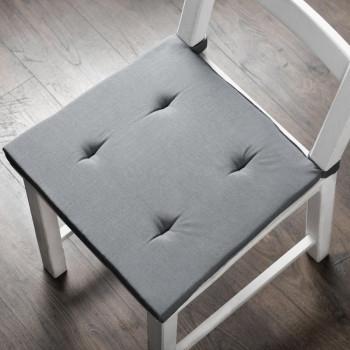 Комплект подушек для стула Билли Серый, 37х42х3 см - 2 шт.