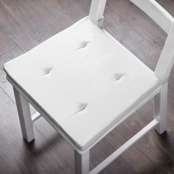Комплект подушек для стула Билли Белый, 37х42х3 см - 2 шт.