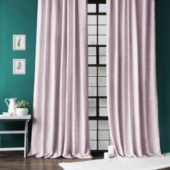 Комплект штор с подхватами Моррис Розовый, 140х270 см - 2 шт.