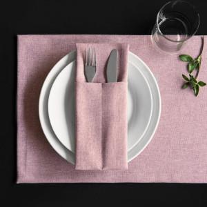 Комплект кувертов Ибица Розовый, 10х24 см - 4 шт.