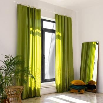 Комплект штор с вышивкой Мьюз Зеленый 145x270 см - 2 шт.