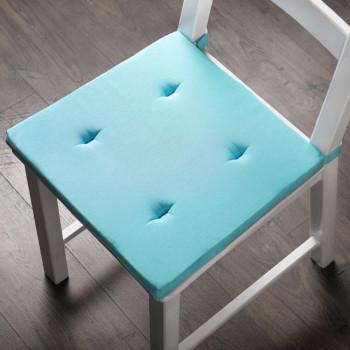 Комплект подушек для стула Билли Небесно-Голубой, 37х42х3 см - 2 шт.