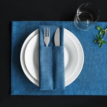 Комплект сетов Ибица Синий, 28х43 см - 6 шт.