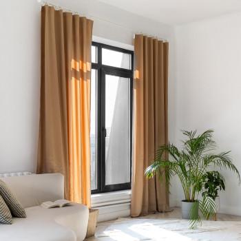 Комплект штор с вышивкой Мьюз Бежевый 145x270 см - 2 шт.
