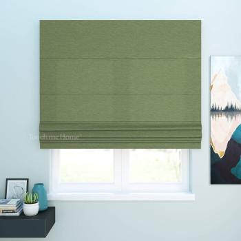 Римская штора Джерри Зеленый 120x170 см