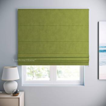 Римская штора Софт Зеленый 120x170 см