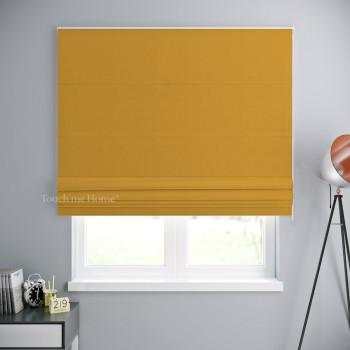 Римская штора Блэкаут Желтый 120x170 см