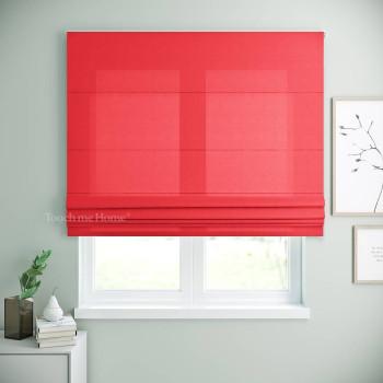 Римская штора Билли Красный 120x170 см