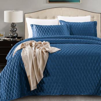 Покрывало с наволочками Arabesque Синий, 240x260 см