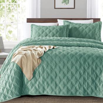 Покрывало с наволочками Baccara Зеленый, 240x260 см