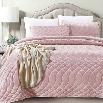 Покрывало с наволочками Roxette Розовый, 240x260 см