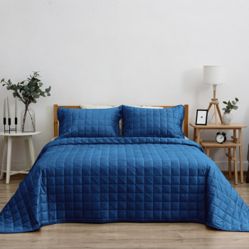 Покрывало с наволочками Sauvage Синий, 240x260 см